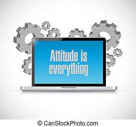 attitude is everything laptop computer sign