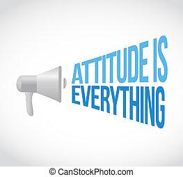 attitude is everything megaphone loudspeaker