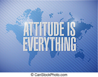attitude is everything world sign concept