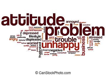 Attitude problem word cloud