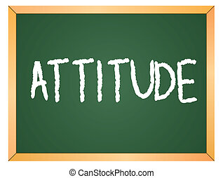 attitude word on chalkboard