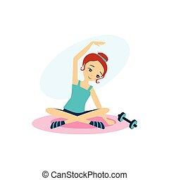 attività, women., illustrazione, vettore, routine...