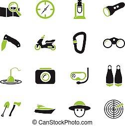 attivo, ricreazione, icone
