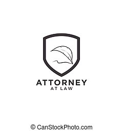 Attorney at law logo template - Illustration of attorney at...