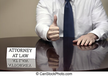 Attorney at Law with Thumb Up