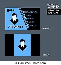 attorney bussines card man