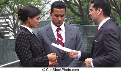 Attorney Serving Legal Papers To Angry Defendents