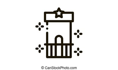 attraction control point Icon Animation. black attraction control point animated icon on white background