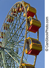 Attraction Ferris wheel.