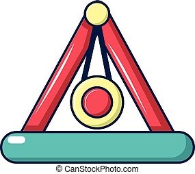 Attraction pendulum icon, cartoon style
