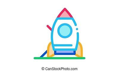 attraction rocket Icon Animation