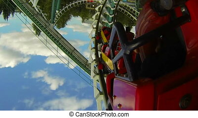 attraction., rouleau, coaster.