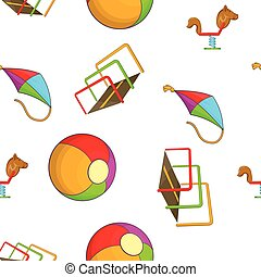 Attractions for children pattern, cartoon style