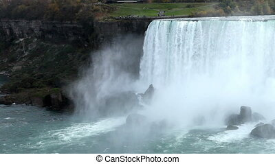 Power and beauty of Niagra falls