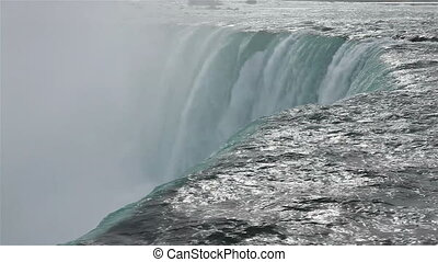 Attractions - Thick powerful water leyer at Niagra falls