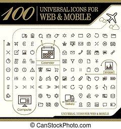 attractive 100 universal icons set