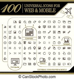 attractive 100 universal icons set