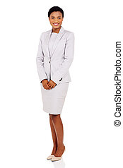 african american businesswoman in a suit