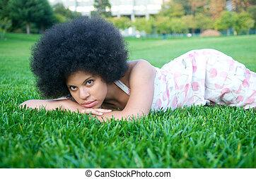 Attractive African American Model