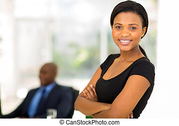 attractive african businesswoman