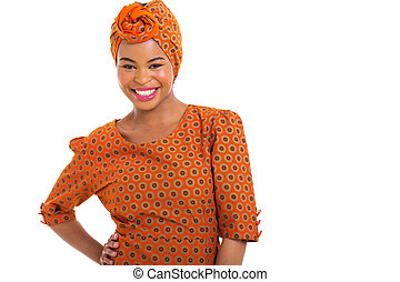 african woman in traditional clothes