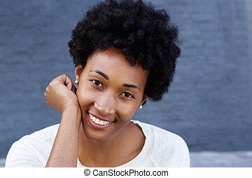 Attractive african woman with a beautiful smile