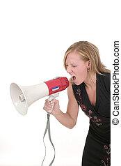 Attractive Agressive Blonde Business Woman 3