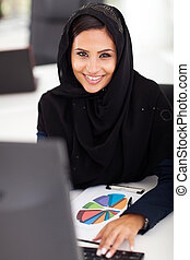 attractive Arabic office worker