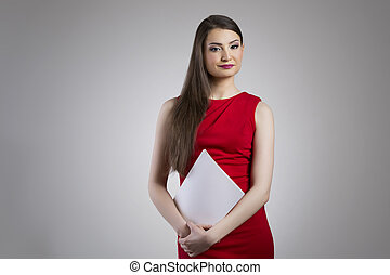 Attractive asian businesswoman