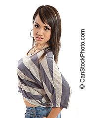 Attractive asian filipino fashion woman in her twenties