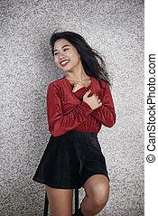 Attractive Asian Woman Portrait