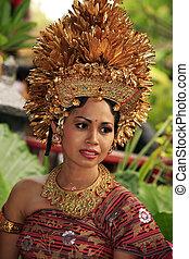 Attractive Bali bride in a traditional suit. Bali, Indonesia