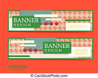 attractive banners set design