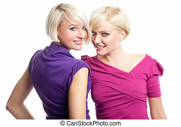 Attractive blonde girls