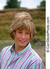 Attractive boy - Attractive young boy outdoors