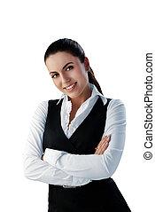 Attractive brunette businesswoman
