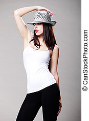 Attractive brunette model 2