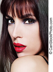 Attractive brunette model, portrait
