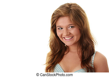 Attractive brunette portrait