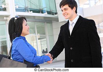 Attractive Business Team Handshake