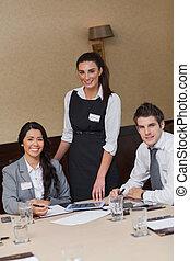 Attractive business team