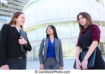 Attractive Business Woman Team