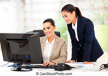 business women working using computer