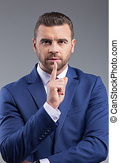 Attractive businessman does not want to listen
