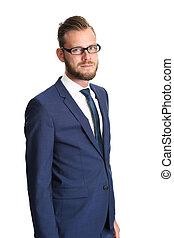 Attractive businessman in glasses