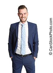 Attractive businessman in suit
