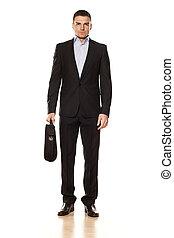 attractive businessman on white