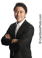 Attractive businessman smiling