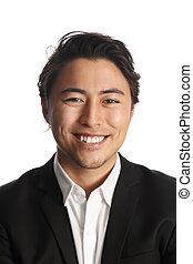 Attractive businessman smiling