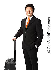 Attractive businessman with bag
